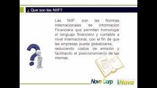 NIIF/NIC Normas Internacionales de Información Financiera/Contable