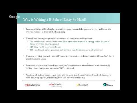 Why is Writing a B-School Essay So Hard?