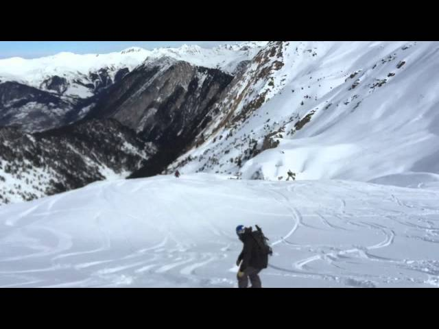 Splitboarding Touring Courchevel - Col des Saulces 2015