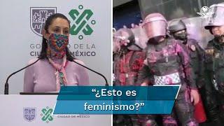 La jefa de gobierno, Claudia Sheinbaum, cuestionó la violencia verbal hacia el cuerpo policial de la Ciudad de México durante la movilización feminista del 28 de septiembre