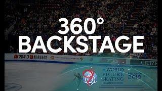 Men's Warmup Backstage 2018 World Figure Skating Championships -Milan Italy 360 camera interactive