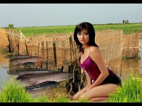 笑える   おもしろ   パイリン州クメール語でのネット釣りネット釣りカンボジア伝統的な漁業部102ヨーヨーをキャスト