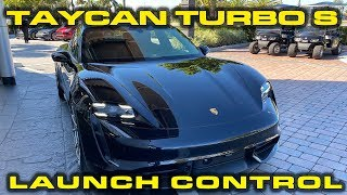 Porsche Taycan Turbo S Launch Demonstration