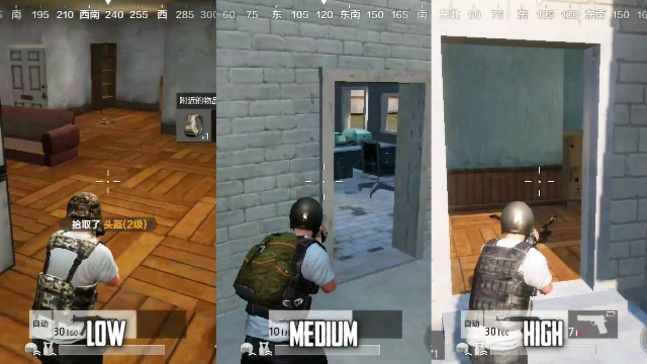 PUBG [Android] Timi Ver : Graphics Comparison