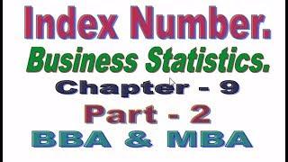 Index Number, Bangla Tutorial Part 2, Business Statistics.