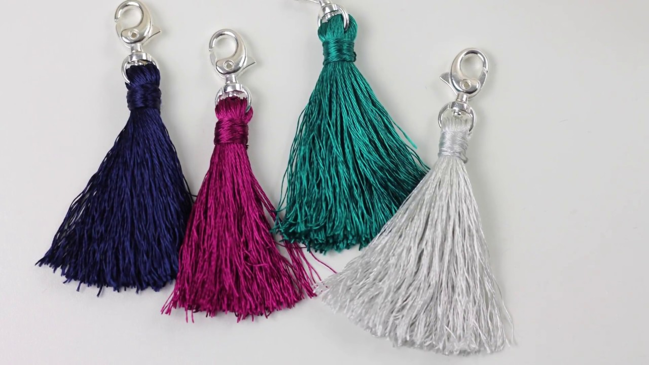 How To Make Embroidery Floss Tassels Youtube