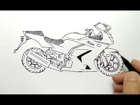 Mewarnai Gambar Gambar Mewarnai Motor Ninja