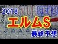 エルムステークス 2018 最終予想 【競馬予想】