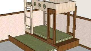 Double Deck Bed With Pullout.avi