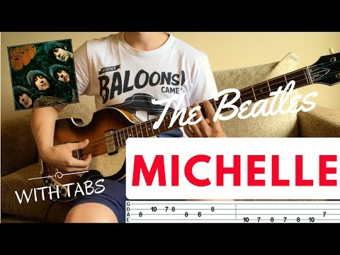 MICHELLE - The Beatles   BASS COVER WITH TAB   Höfner 500/1 CT  