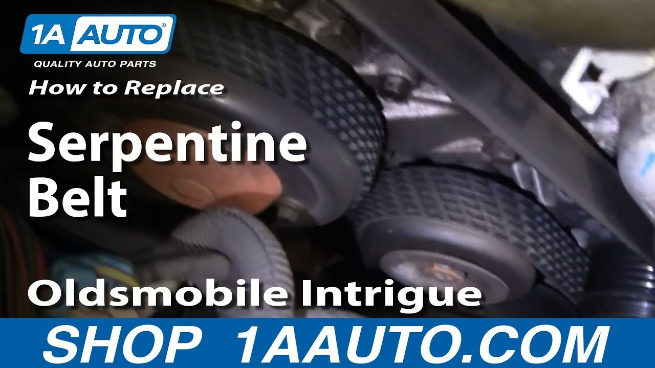 how to install replace engine serpentine accessory belt olds rh youtube com 1998 Oldsmobile Intrigue 1998 Oldsmobile Intrigue Black