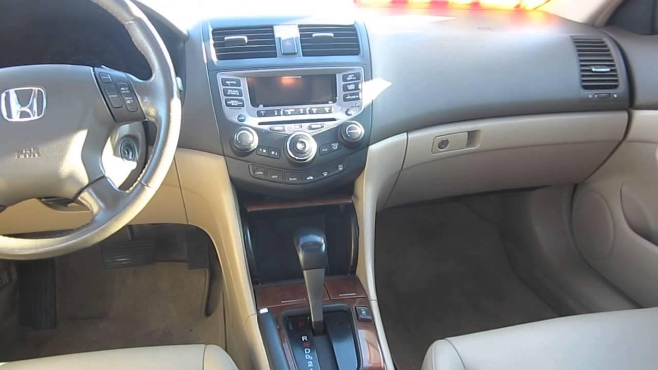 2006 Honda Accord Desert Mist Metallic Stock 12869p Interior You