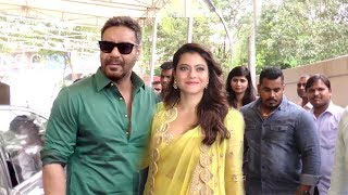 Ajay Devgn's MACHO ENTRY With Wife Kajol At Helicopter Eela Trailer Launch
