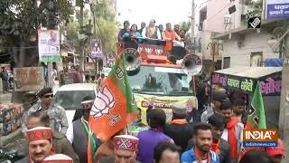 Delhi polls: JP Nadda holds roadshow in Adarsh Nagar assembly constituency