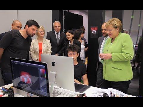 Angela Merkel At TUMO Yerevan