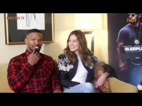EXCLUSIVE:  Jamie Foxx & Michelle Monaghan tell all about  SLEEPLESS  FabulousTV