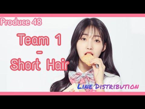 [Produce 48] Team 1 - Short Hair (AOA) | Line Distribution