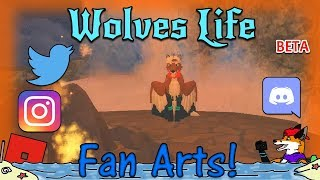 ROBLOX - Wolves' Life Beta - Fan Arts! #37 - 60FPS HD