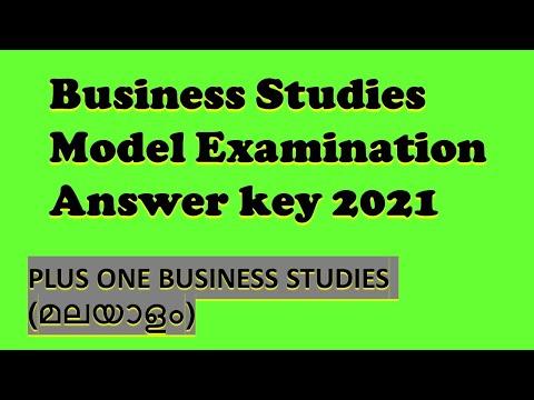 BUSINESS STUDIES MODEL EXAMINATION ANSWERKEY 2021, ANSWERKEY OF PLUS ONE BESINESS STUDIES, MODEL
