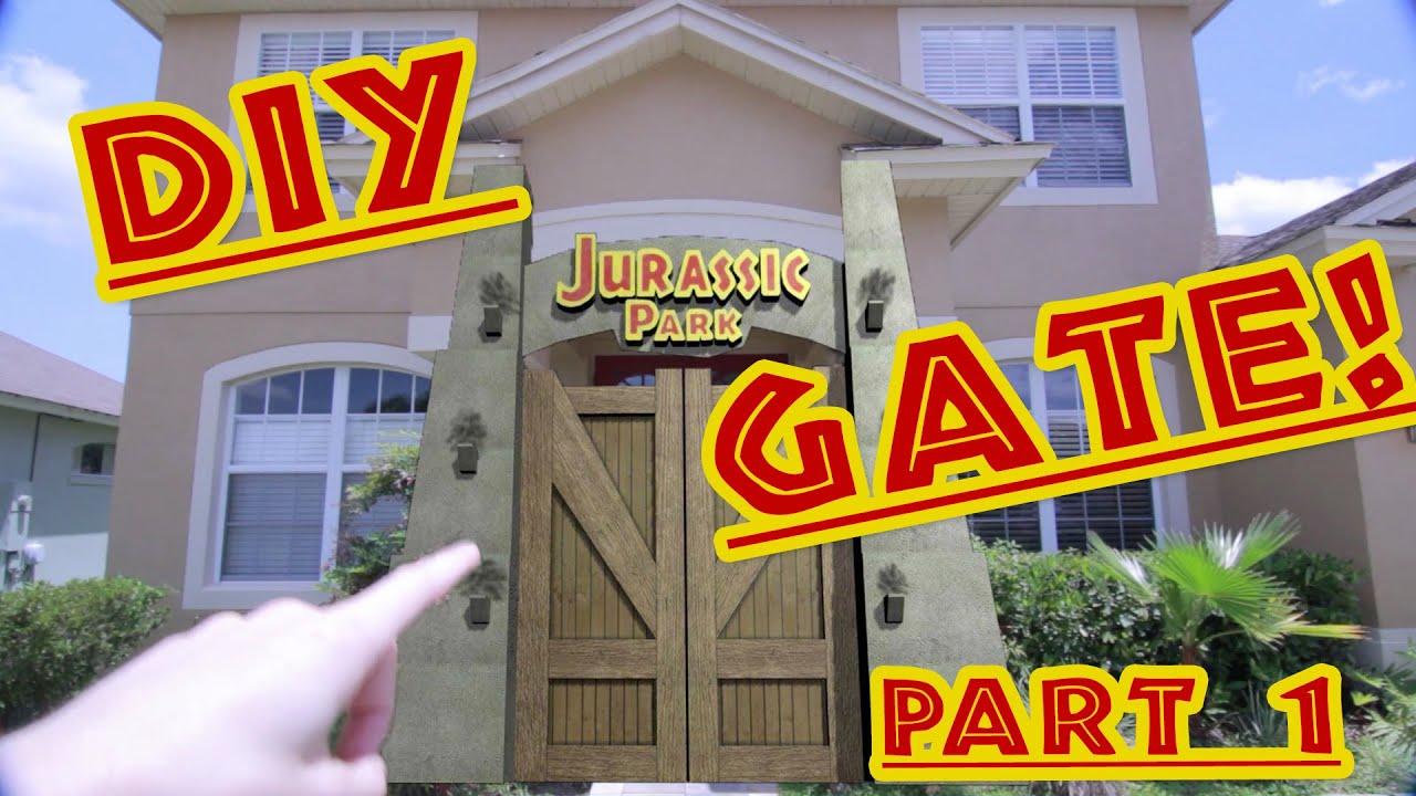the jurassic park gate  diy project  - part 1
