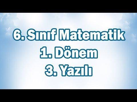 6. Sınıf Matematik 1. Dönem 3. Yazılı Sınavı | CANLI