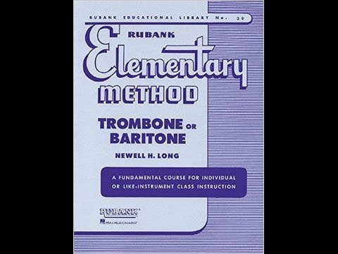 Rubank Elementary Method For Trombone Or Baritone Lesson 14b Youtube