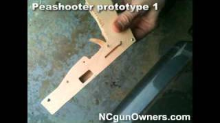 Wooden Toy Gun Prototype #1
