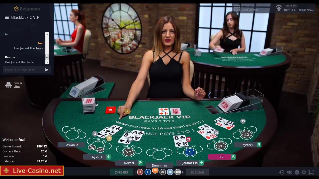 Live Online Casino Blackjack