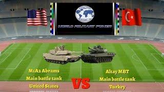 Abrams M1A2 (MBT) - USA vs Altay (MBT) - TURKEY 2016