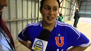 Maria José Espinoza jugadora del Club deportivo Universidad de Chile (Baby 2014).-