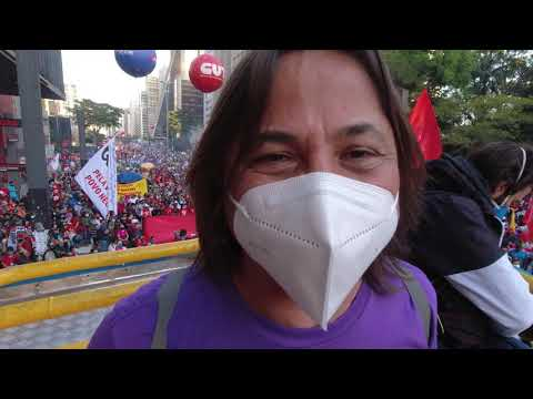 Edson Índio, Secretário Geral da Intersindical, neste #24JForaBolsonaro, na Paulista