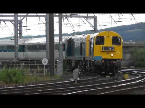 Class 20s Nos 20189 & 20205 and Prototype HST 41001 at Newcastle   21st July 2016