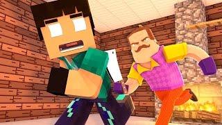 Minecraft - HELLO NEIGHBOR : FUGINDO DO VIZINHO !! #02