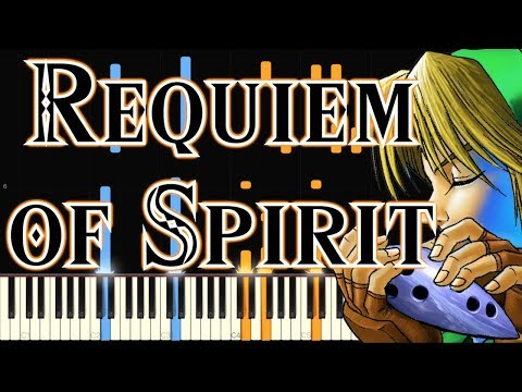 The Legend Of Zelda - Requiem Of Spirit (Synthesia)