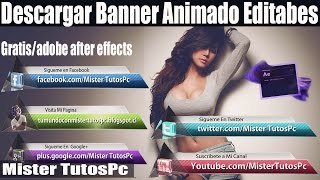 Pack De Banner Animado/Lower Thirds[Redes Sociales Editable] After Effects/2016 Gratis