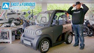 Brommobiel MOVE CityCar 45km Auto Elektrische Microcar. Bomvol Opties En Gadgets