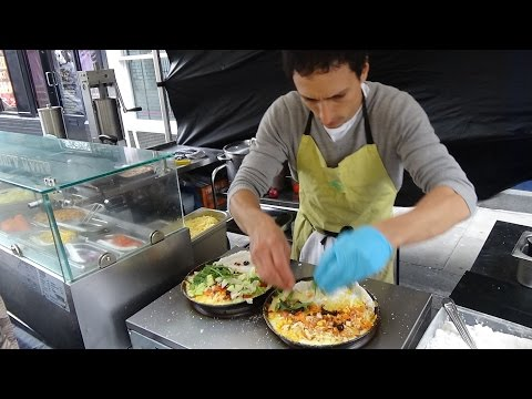 Brazil Street Food: Fresh Brazilian Tapioca Flatbread Pancakes and Churros, Whitecross Market London