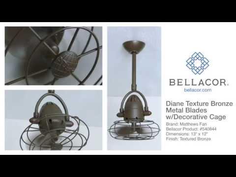 Matthews Fan Atlas Fan Diane Textured Bronze Ceiling Fan - Bellacor