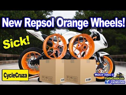 Got New Repsol CBR1000rr Orange Wheels - New Bike Build!
