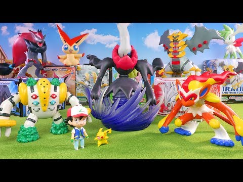 Pokemon Toys - Big Figure Collection Unboxing - Darkrai , Regigigas , Giratina , Zoroark