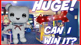 Can I Win it? Huge! Stay Puft Plush At Kristof's Entertainment Center Arcade ArcadeJackpotPro