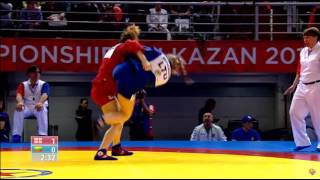 European Sambo Championships - 2016 - ABASHIDZE, Salome (GEO)-REPECKAITE, Auguste (LTU)