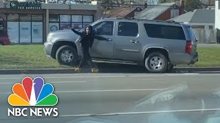 Watch: Woman Chases Her Own Car As It's Stuck In Reverse | NBC News NOW
