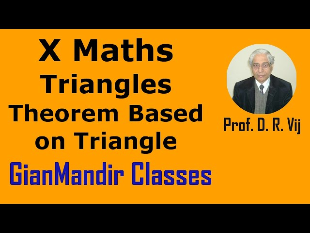 X Maths | Triangles | Theorem Based on Triangle by Preeti Ma'am