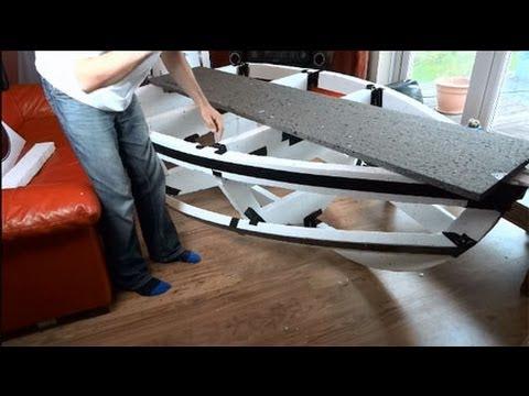 Experimental Boat Building Part 3, building the expanded polystyrene frame   James Bruton