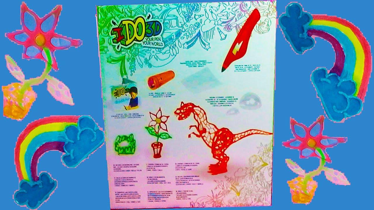 Unboxing toys for kids IDO3D Pen Review Demo Pen 3d crafts toys