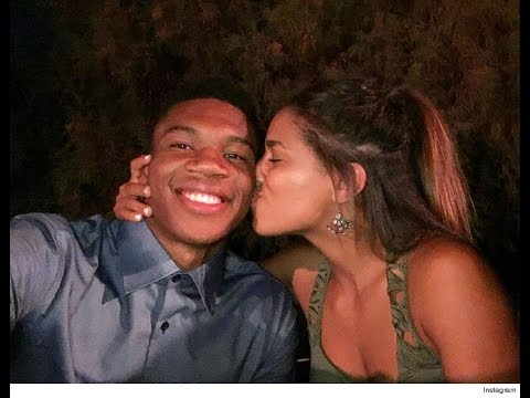 Giannis Antetokounmpo With His Girlfriend Before Playoff