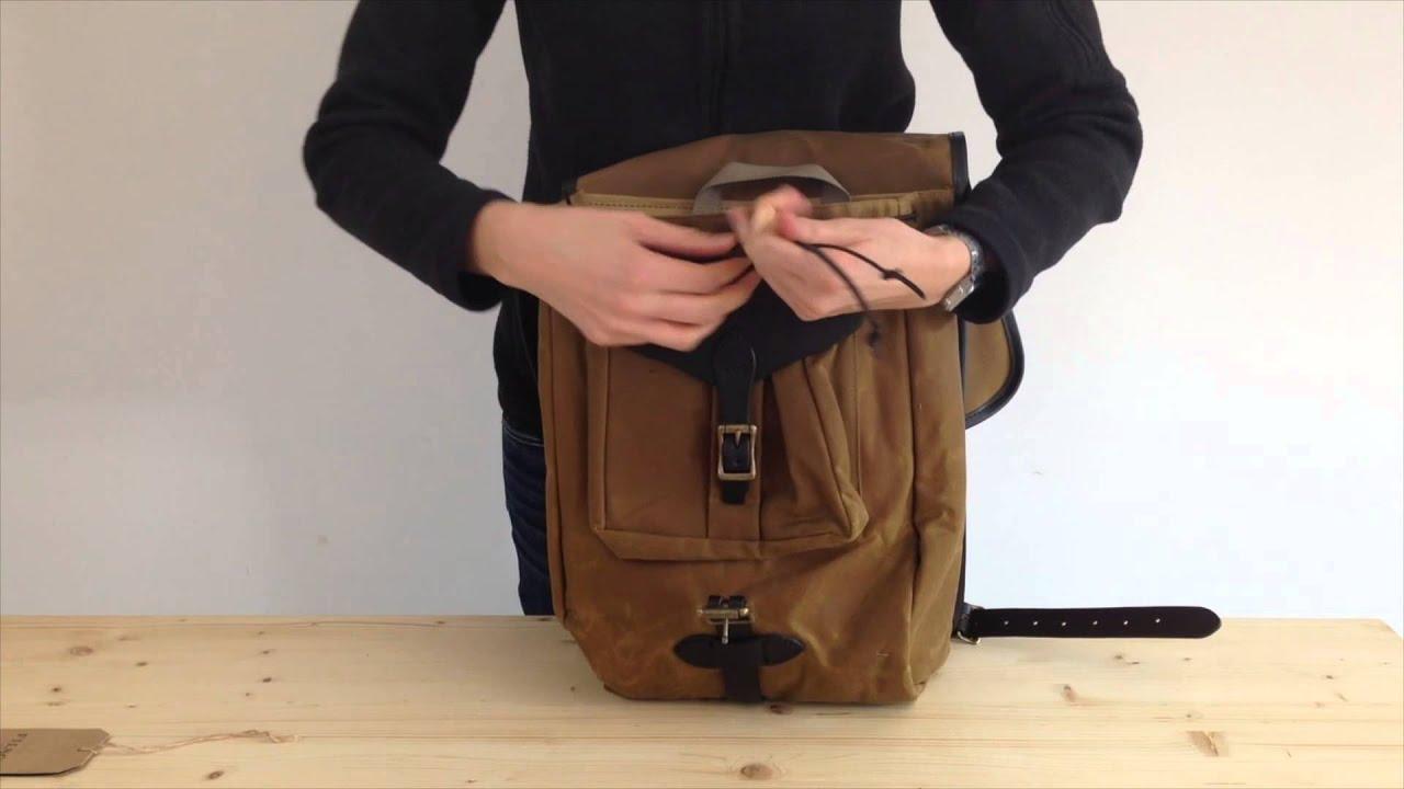 Filson Tin Cloth Backpack - YouTube 6120ffadaaf66
