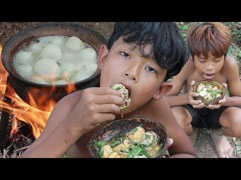 Primitive Technology – Yummy cooking baby egg ducks – eating delicious