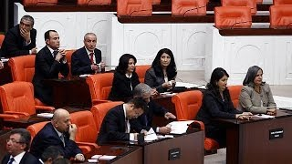 Pro-Kurdish MPs are sworn in after being freed from jail